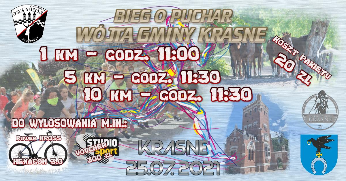 Bieg o Puchar Wójta Gminy Krasne 25.07.2021